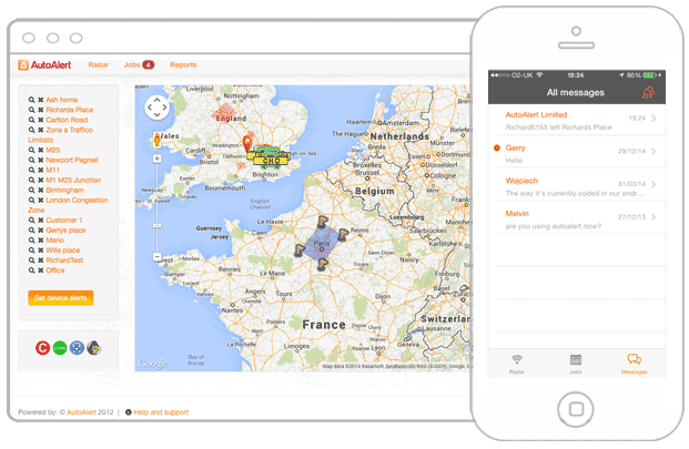 GPS Tracking Geofence Areas