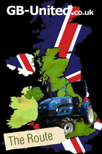 GB United Sponsored Tracktor Rider Around the UK, Tracked with an AutoAlert Portable GPS Tracking Unit