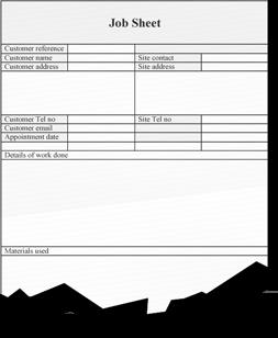 Paper Job Sheet