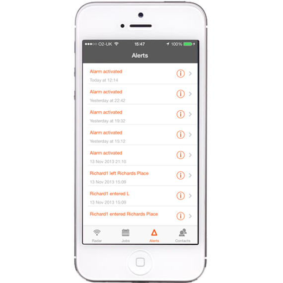 AutoAlert iPhone and iPad Monitor alerts screen