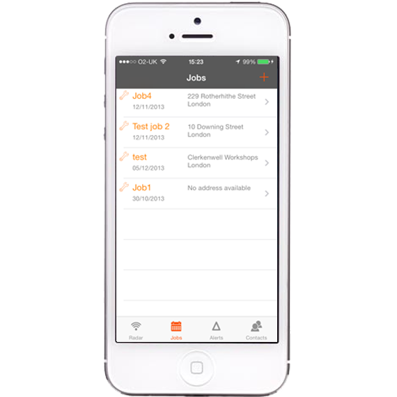 AutoAlert iPhone and iPad Monitor Job scheduling screen