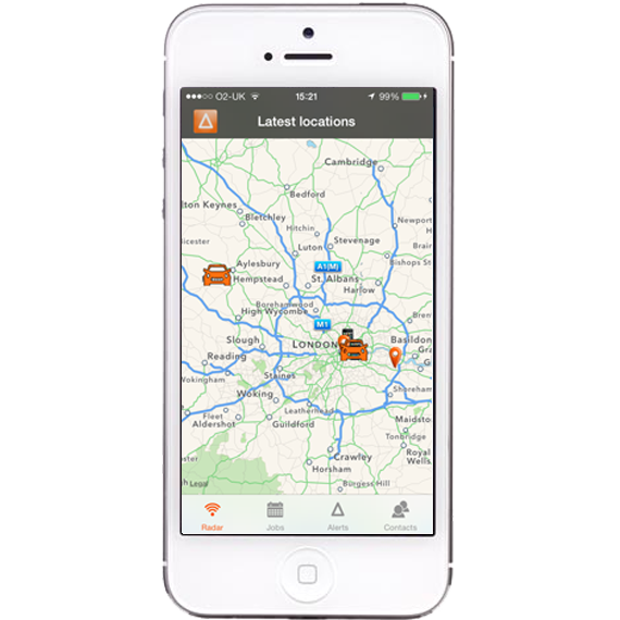 AutoAlert iPhone and iPad Monitor Radar screen