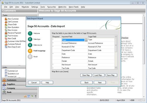 Sage Line 50 Import Step 4
