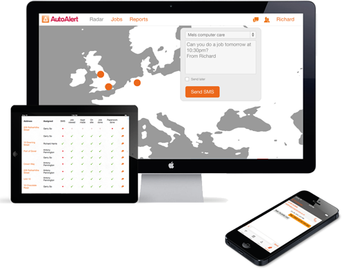 AutoAlert GPS Tracking, Job Management and Messaging