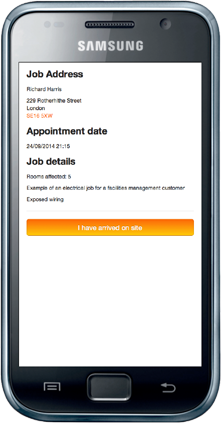 Viewing job details from an SMS