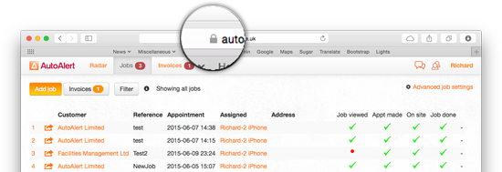 AutoAlert Job Management Software Encryption