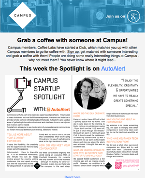 AutoAlert Features on Google Campus Spotlight