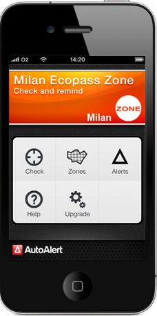 iPhone London Low Emission Zone application