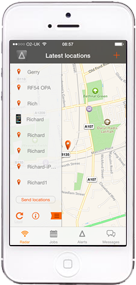 Show your list of vehicles on the iPhone Monitor Radar screen