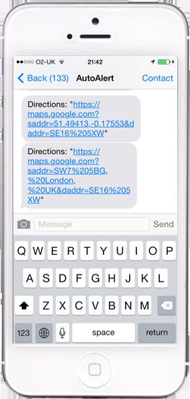 phoneSMSDirectionsScreenshot