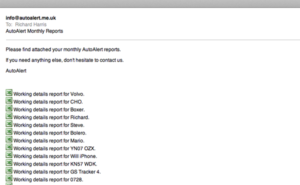 AutoAlert scheduled reports